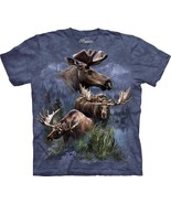 MOOSE COLLAGE ADULT T-SHIRT THE MOUNTAIN - $18.33