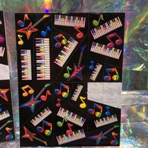 90s Lisa Frank Incomplete Sticker Sheet Pianos Ballet Shoes Hearts Guitars Music image 5