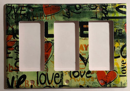Street Art Wall Painting Love Light Switch Outlet wall Cover Plate Home decor image 3