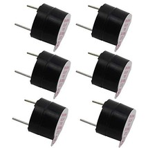 TOTOT 6PCS Black 5V Electromagnetic Active Buzzer Continous Beep (6) - $13.34