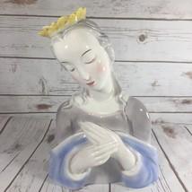 Goldscheider Everlast Fine China Madonna Figurine Statue USA 1940's Vint... - $92.51