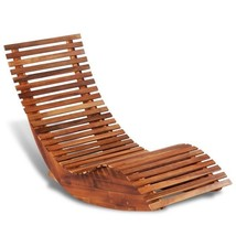 Wooden Sun Lounger Rocking Chair Acacia Wood - $189.99