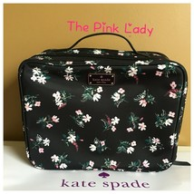 Kate Spade Authentic Road Flora Martie Black Travel Cosmetic Case  - $59.99
