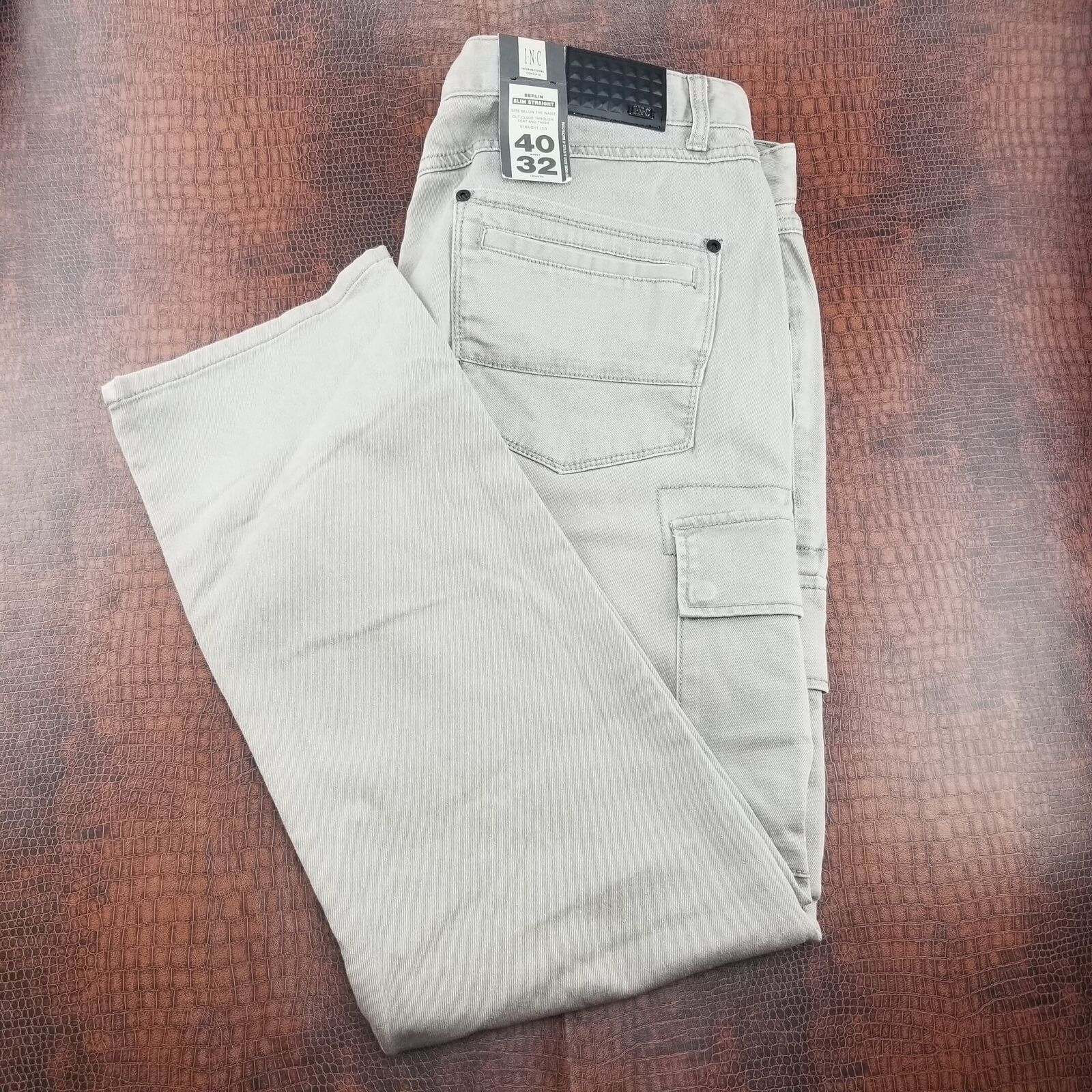 Primary image for INC International Concepts AC Men's Cargo Slim Straight Gray 40/32