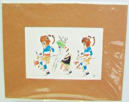 Art Print By Saga  Albuquerque New Mex 3  Native American Dancers P40 44... - $28.95