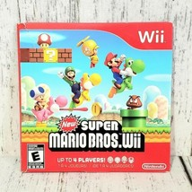New Super Mario Bros Wii (Nintendo Wii, 2009) with Slipcover No Manual -... - $22.76