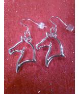Sterling Silver Horse Head Earrings on .925 Sterling Silver Hook  - $9.99