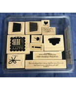 Stampin Up! - CREATE A CUPCAKE - 11 Rubber Stamps - Retired - $8.01