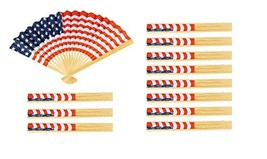 USA Flag Fan - 12-Pack American Flag Fan, Patriotic Party Favors, Handhe... - £18.32 GBP