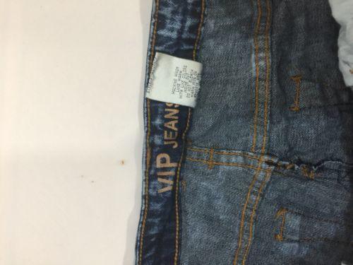 Vip Jeans Acid Wash Skirt Above Knee Regular Fit   Blue Cotton Size 11/12 image 2