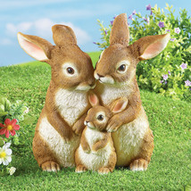 Life-Like Details Easter Bunny Rabbit Family Trio Spring Garden Yard Pat... - $40.59