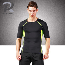 Plus Size Men Tight T Shirt Compression Short Sleeve Fitness  Breathable... - $17.99