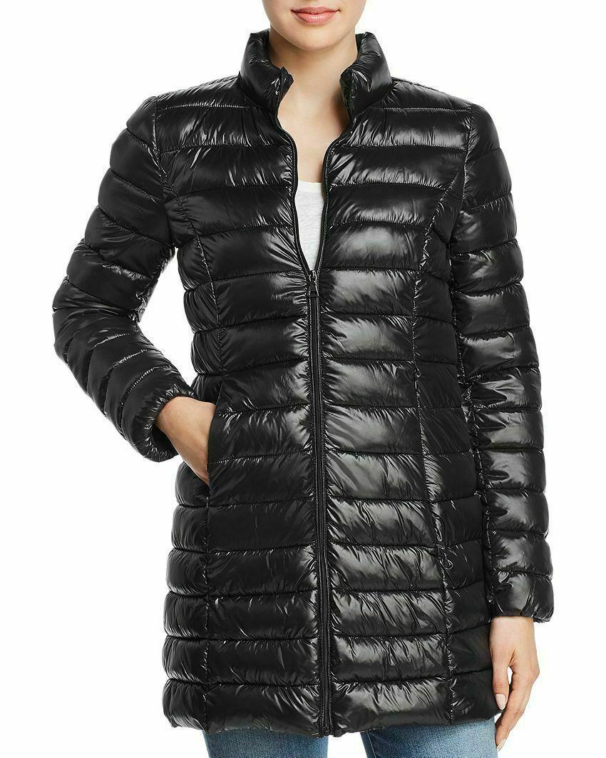 Aqua Women's Black Puffer Packable Fall/Winter Coat Jacket size Small New w Tags