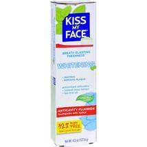 Kiss My Face Toothpaste - Whitening - Anticavity Fluoride - Gel - 4.5 oz - $8.06