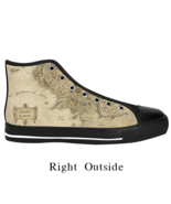 Maps of midle earth Lord Of the ring Design Custom Fashion Sneaker Shoes - $45.55 - $51.55