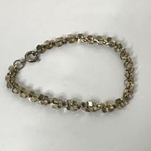 "Vintage Silvertone Chain Bracelet Approximately 7"" Long - $19.80"
