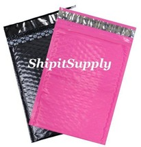 2-500 #000 4X8 Poly ( Black & Pink ) Color Bubble Padded Mailers Fast Sh... - $2.99+