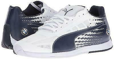 Puma Bmw Men's EvoSpeed MS Sport Athletic Sneakers Shoes White (11US)