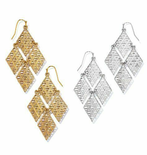 Primary image for Avon Geometric Chandelier Earrings in Goldtone