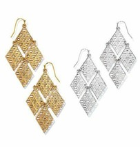 Avon Geometric Chandelier Earrings in Goldtone - $15.84