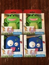 Set Of 4 Rubbermaid Blue Ice Reusable Ice Packs Frog Monster Lunch Box C... - €21,89 EUR