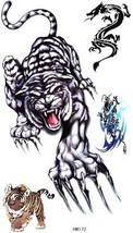 GGSELL King Horse Tiger Temporary Tattoo Stickers Male And Female Fashion Sexy - $13.37