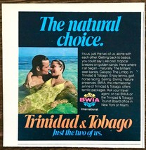 1979 BWIA Trinidad & Tobago International Airline Print Ad Just the Two ... - $9.69