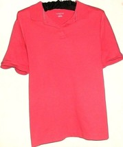 LANDS' END PINK POLO STYLE TOP SIZE S  6 - 8 - $9.99