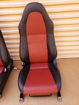 00-05 Toyota MR2 Spyder Seats L&R Reupholstered W/ Tracks image 2