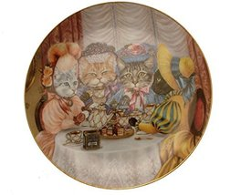 Danbury Mint Fanciful Felines Miss Kittys Tea Party cat plate GB84 - $48.41
