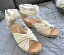 UGG Australia Starla Espadrilles Wedge Sandals Cream Size 9M  - $61.38