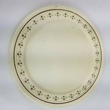 "Anchor Hocking USA Ironstone CHANTILLY Chop Plate Platter 12.5"" Brown F... - $37.39"
