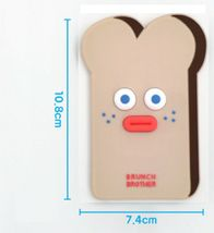Brunch Brother popped Eye Handheld Mirror Makeup Travel Mini Hand Mirror (Toast) image 5
