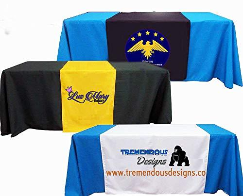 "6 ft Table Cloth and Customized Table Runner Included 36""x90"" (Combo) Add Your T"