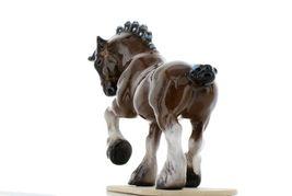 Hagen Renaker Miniature Draft Horse on Base Ceramic Figurine image 4