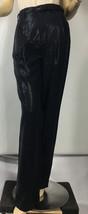 Ralph Lauren Purple Label Collection Womens Pants 6 Navy Blue Belted Silk - $171.97