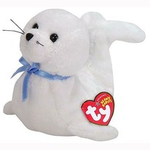 Icing Baby White Seal with Blue Ribbon Retired Ty Beanie Baby MWMT Colle... - $6.88