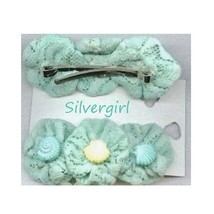 1 Pair Pretty Soft Green Hair Clips - $8.99