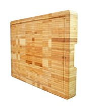 Extra Large Organic Bamboo Cutting Board End Grain Butcher Block Thick H... - $106.94 CAD