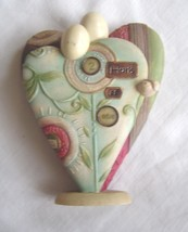 Enesco 2007 Take Heart By Karen Hahn 2 Hearts as One Figure  - $24.99
