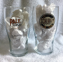 2 New Schlafly Pale Ale Beer Glasses Brewed in Saint Louis 18 oz  - $26.68