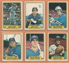 1982 Fleer Seattle Mariners Team Lot 18 dif Julio Cruz Bruce Bochte Tom Paciorek - $1.99