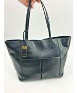 Ralph Lauren Tote Bag Handbag Black Leather Shoulder Purse Carry All - $27.87