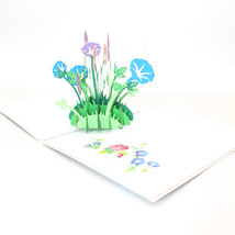 Morning Glory--3D Greeting Card, Pop Up Card, Pop Out Card - $5.60