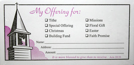 My Offering Envelopes Steeple 100 Count Acts 20:35 Tithe, Missions, Gift... - $9.89
