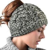 Women Hat Knit Skull Beanie Winter Outdoor Runner Messy Bun Ponytail Cap... - $17.32