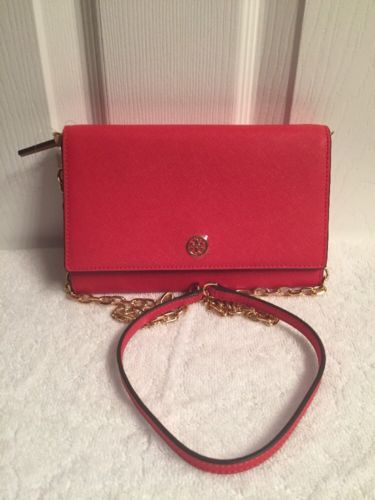 3dd2d1198d93 Tory Burch Robinson Chain Wallet in Poppy and 50 similar items. 12