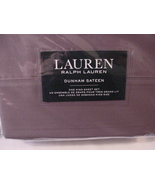 Ralph Lauren Dunham Charcoal Gray Sheet Set King - $89.99
