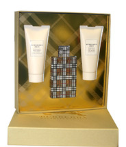 Burberry Brit 3.3 Oz Eau De Parfum Spray & Body lotion & Body Wash 3 Pc Set image 1