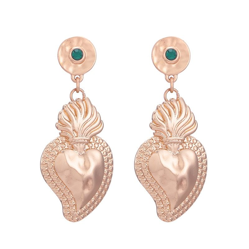 Primary image for New Brincos Heart Pendientes Drop Earrings Luxury Women Earrings